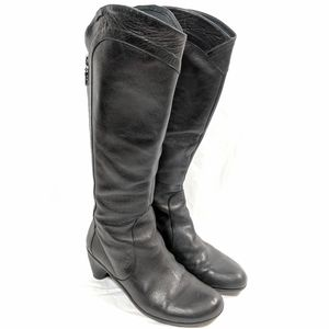 Camper Tall Black Leather Boots
